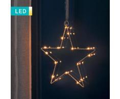 Sagoma stella di Natale a LED per finestra