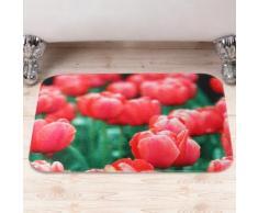Tappetino da bagno con tulipani