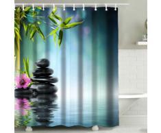 Tenda da doccia 3D Bambù & pietra