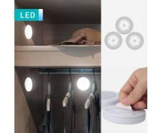 Set di 3 lampade a LED con sensore del movimento