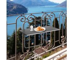 Tavolo da balcone pensile ad altezza regolabile antracite