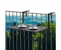 Tavolo da balcone pensile nero
