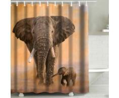 Tenda da doccia 3D Elefante