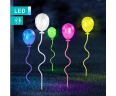 Set di 5 lampade solari LED a palloncino