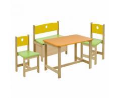 GEUTHER Set Tavolo e sedie PEPINO - giallo/verde/arancione