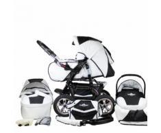 BERGSTEIGER Passeggino trio completo Milano black & white