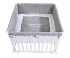 roba Box per bambini 100 x 100 cm bianco Rock Star Baby