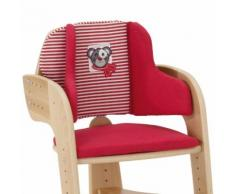 HERLAG Cuscino Riduttore per Seggiolone Tipp Topp Comfort rosso/rosso- bianco a strisce