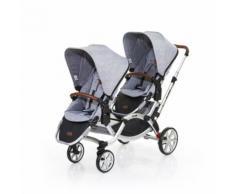 ABC DESIGN Passeggino gemellare Zoom graphite grey, grigio chiaro - Nuova collezione