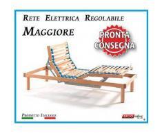Rete Elettrica Regolabile Maggiore a Doghe di Legno da Cm. 80x190 Con Batteria di Emergenza Pronta Consegna Prodotto Italiano