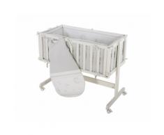 Culla in legno Room&Cradle affiancabile al letto + Sacco Nanna – Roba (Lucky Angel Grigio)
