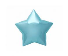 Palloncino 55 cm Stella Azzurro Pastello