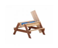 Tavolo Gioco in legno con panche e vassoi