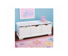 Panchina con contenitori Nantucket – KidKraft (Bianco)