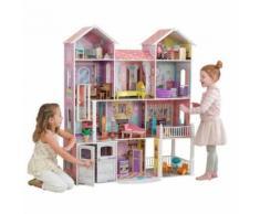 """Casa delle Bambole """"Country Estate"""" 4 piani, 11 stanze, 30 mobili - KidKraft"""