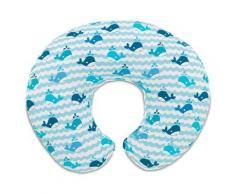Cuscino allattamento Boppy - Chicco - Blue Whales