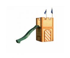 Il Castello in Legno con Torre e Scivolo