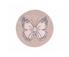 Tappeto in cotone Butterfly – Lorena Canals (Vintage Nude)