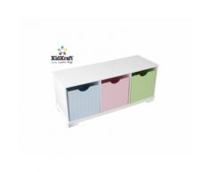 Panchina con contenitori Nantucket – KidKraft (Colori Pastello)