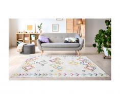 Tappeto 200 x 290 cm Beige e motivi Multicolore Stile berbero - ANGKOR