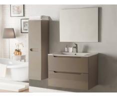 Set STEFANIE - mobile bagno e specchio - Laccato Tortora