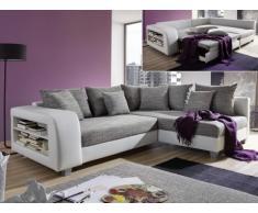 divano letto ad angolo » acquista divani letto ad angolo online su ... - Ampio Divano Ad Angolo In Tessuto Grigio Bianco