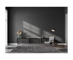 Tappeto 100% viscosa 200x290 cm grigio antracite - LOUVAIN