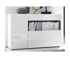 Credenza ALTAÏR - 2 ante e 1 cassetto - Bianco laccato