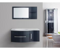 Set per sala da bagno NAIADE - mobili + lavabo + specchio - Blu