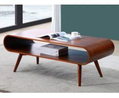 Tavolino con nicchia Noce stile scandinavo - VILDA