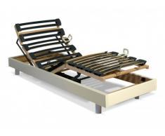 Rete relax con doghe multistrato - 5 livelli - Fissaggio regolabile - 90 x 200 cm - Bianco