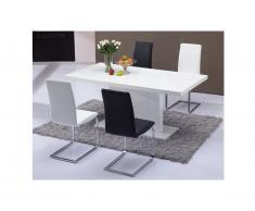 Tavolo da pranzo SOLISTE - 6 coperti - MDF laccato bianco