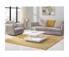 Tavolino girevole in MDF laccato bianco - FAUSTO II