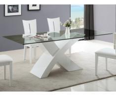 Tavolo da pranzo HOLLIS - 8 coperti - MDF laccato bianco