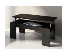 Tavolino rialzabile Legno e MDF nero - CARMELA