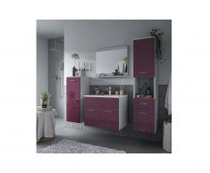 Set CLAUDIO - mobile bagno - Laccato lilla