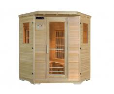 Sauna Infrarossi 4/5 posti angolare Gamma Carbone WIBERG