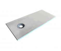 Piatto doccia pronto da piastrellare DELOS sifone fornito in dotazione - 1800 x 800 x 40 mm - Tagliabile