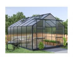 Serra da giardino in policarbonato de 13 m² KALIDA con perimetro - antracite