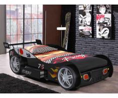 Letto auto con cassetto 90 x 200 cm Nero - RUNNER