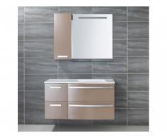 Set bagno NEREIDE - Mobili + lavabo + specchio - Taupe