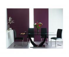 Set tavolo MEZZO + 4 sedie Nero - LIRICA