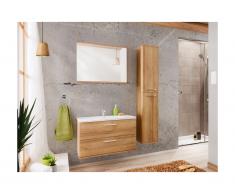 Set Mobili bagno L80 cm Effetto legno - KAYLA