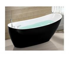 Vasca da bagno freestanding 1 posto 220L L150 x P75 x H70 cm Nero - NATALIA
