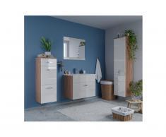 Set NASSA - mobili per il bagno laccato bianco