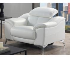 Poltrona relax elettrico in pelle DALOA - Bianco