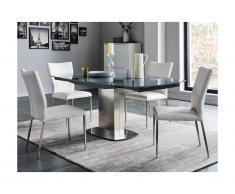 Set tavolo + 4 sedie Grigio - TALICIA