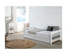 Letto divano con letto estraibile 2 x 90 x 190 cm in MDF Bianco - CELIANE