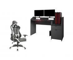 """Set """"Scrivania gaming"""" 2 prodotti: Scrivania DIDO e Sedia"""