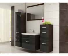 Set NASSAU - Mobili da bagno - Laccato nero e legno wengé